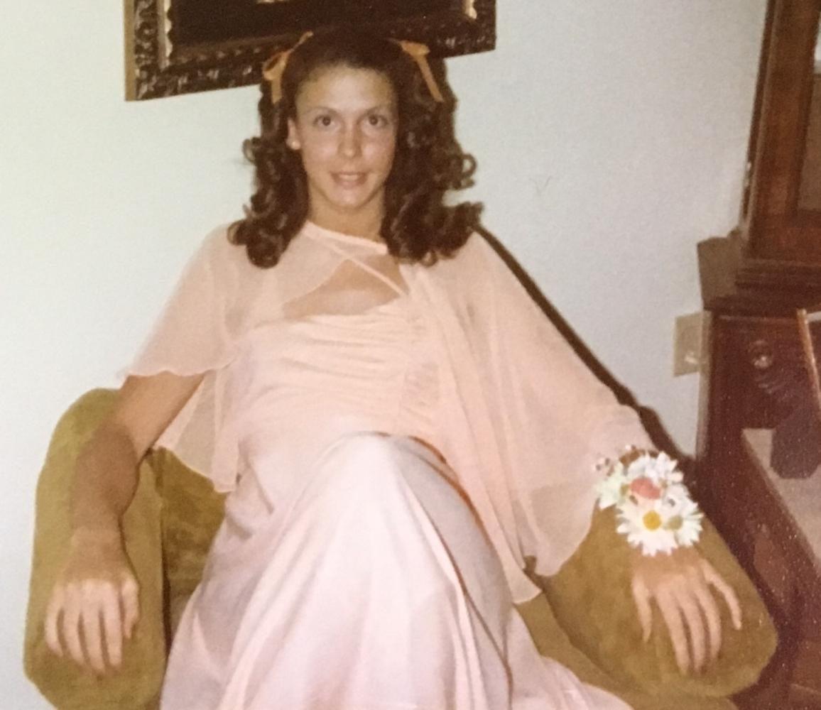Mrs. Logic before her junior prom.