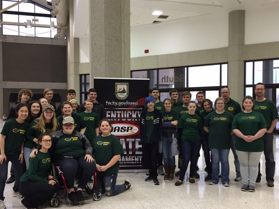 The Archery team at State on  March 31.