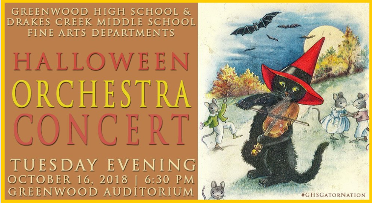 Greenwood's Orchestra to Perform Halloween Concert