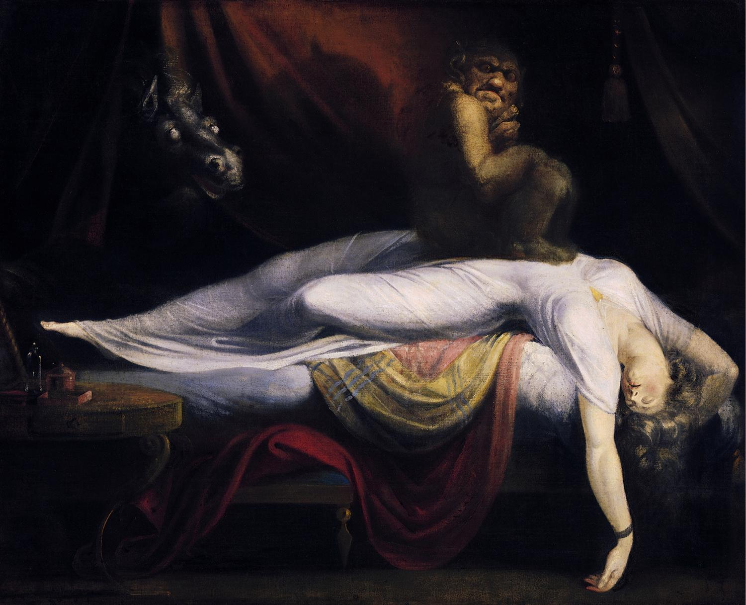 A painting from the artist John Henry Fuseli depicting a nightmare.