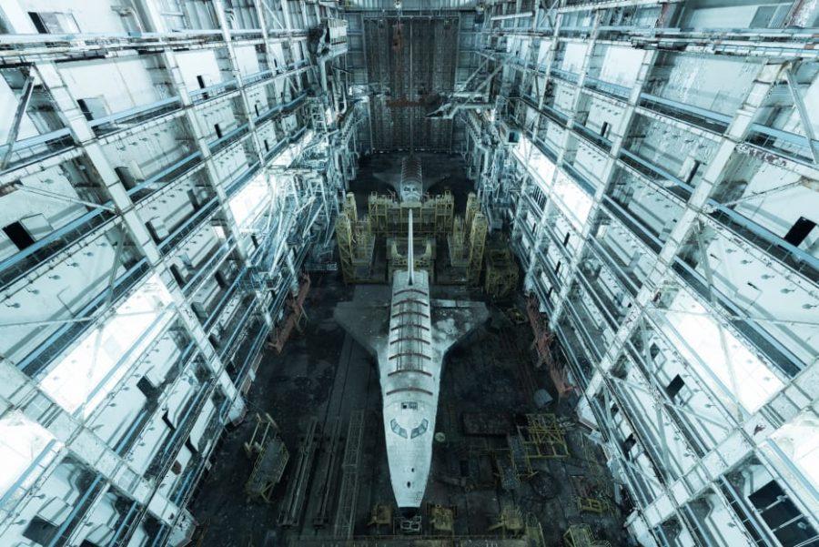 Two Soviet Space Shuttles Left in Kazakh Steppe