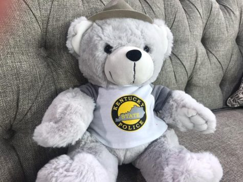 Kentucky State Police teddy bear for purchase and donation.