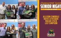Swim Team Celebrates Seniors