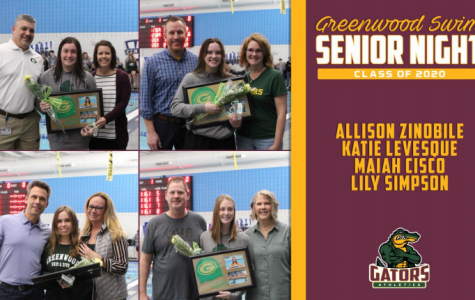 Swim Team Celebrates Seniors