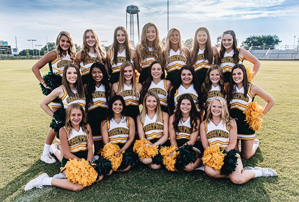 This is a picture of the Greenwood Cheerleading team that will be traveling to Orlando,Florida for Nationals