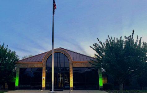 Warren County Schools' Central Office lit